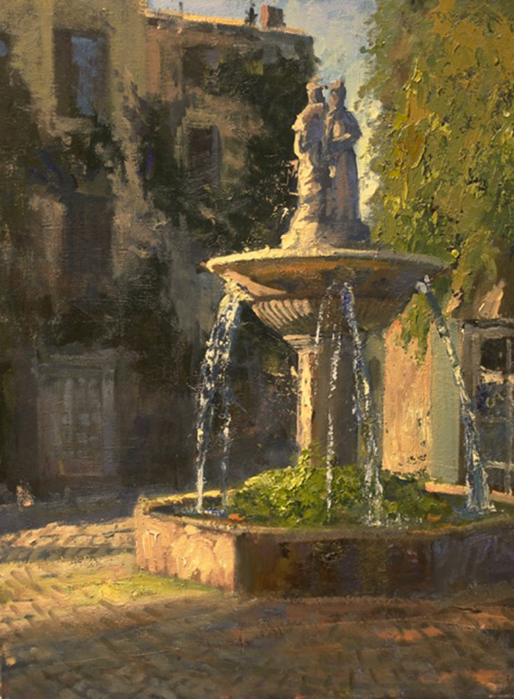 Fountain in Saignon by Roger Dale Brown, OPAM
