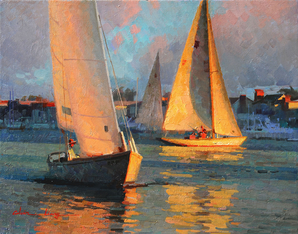 Newport Sailboats by Calvin Liang, OPAM