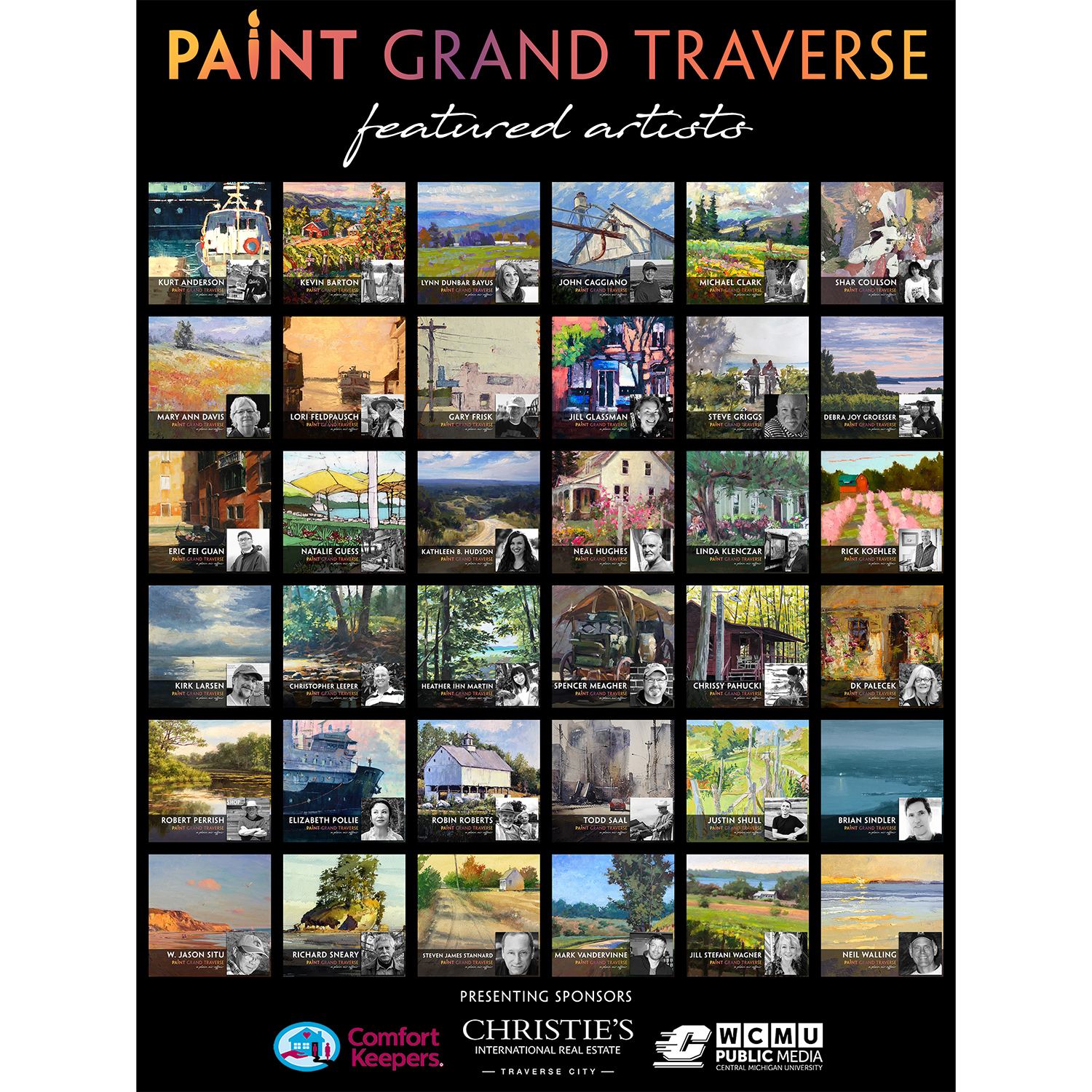 Paint Grand Traverse 2020 featured artists